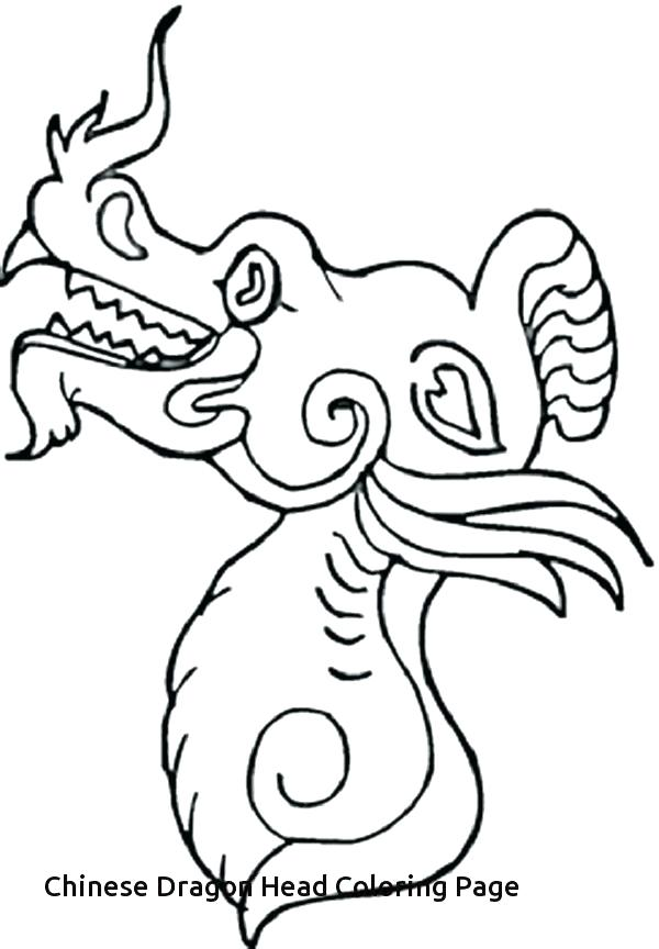 600x864 Dragon Head Coloring Page Dragon Head Coloring Page New Year