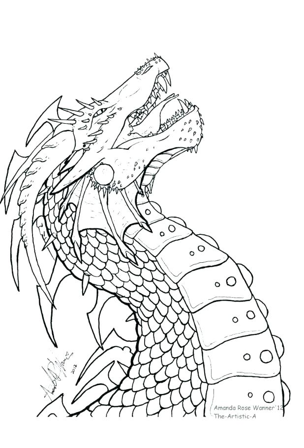 618x912 Dragon Head Coloring Page Dragon Head Coloring Pages Chinese