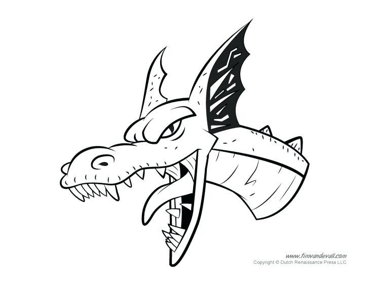 728x563 Chinese Dragon Head Coloring Page Coloring Pages For Kids Dragon