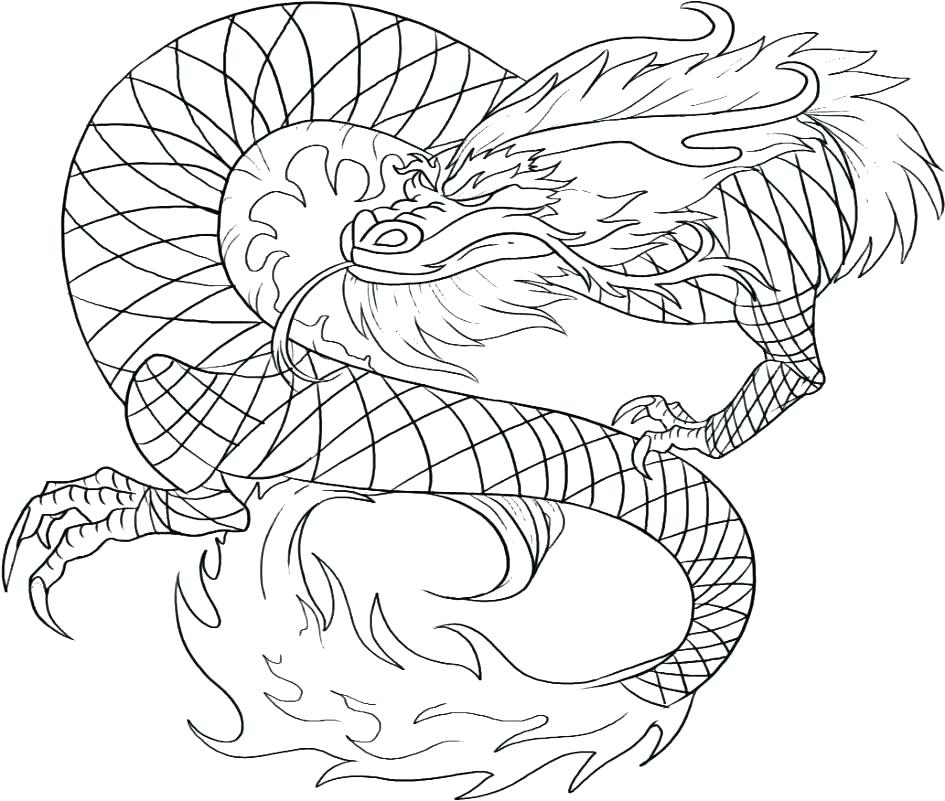 945x801 Dragon Head Coloring Page Printable Dragon Coloring Pages Dragon