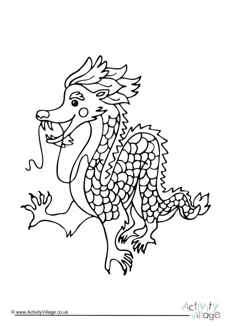 460x650 Idea Chinese Dragon Coloring Page For Dragon Coloring Pages