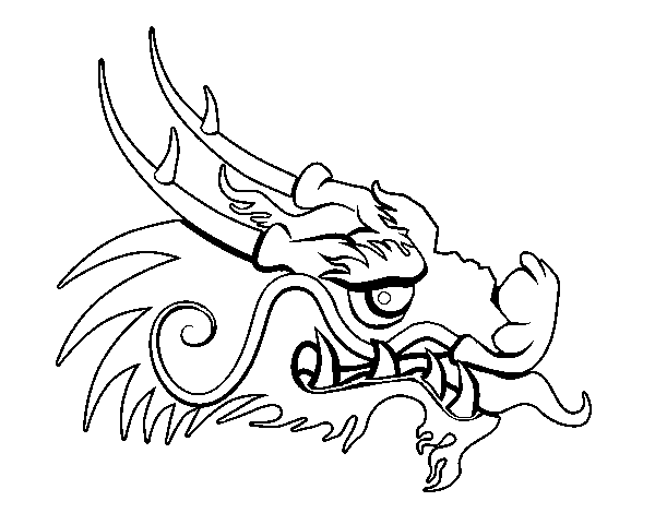 600x470 Chinese Dragon Head Coloring Pages