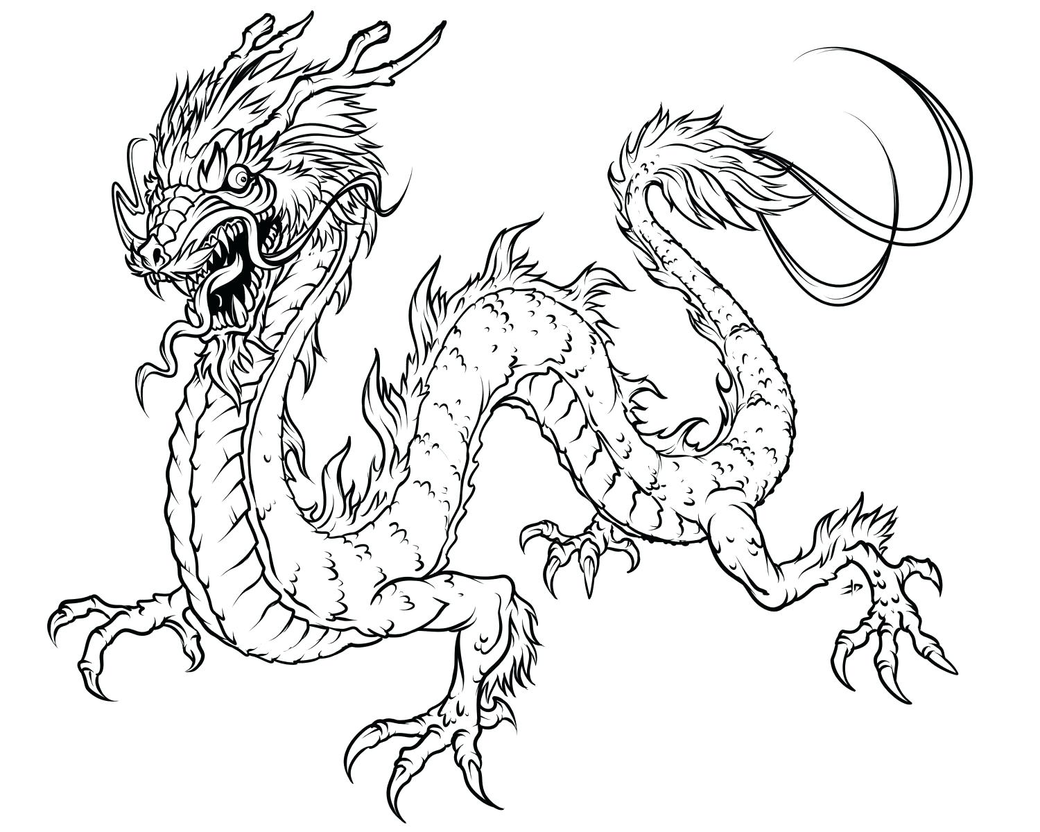1500x1200 Dragon Coloring Pages For Adults To Download And Print Free Animal
