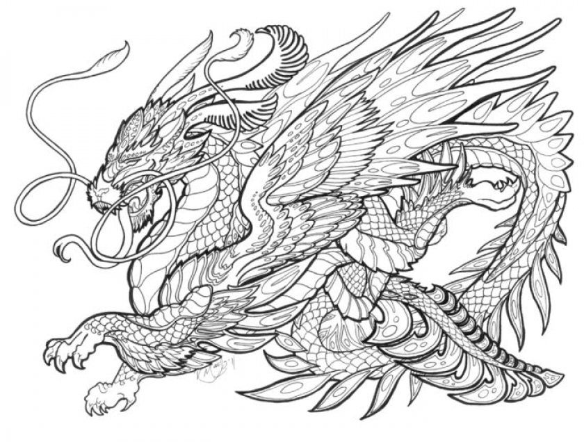 840x636 Free Printable Dragon Coloring Pages Timykids For Decor