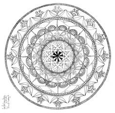236x232 Free Printable Mandala Coloring Pages Fire Dragon Mandala