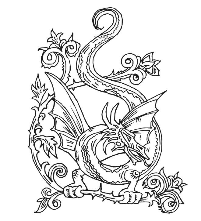 660x724 Ideas Of Printable Dragon Mandala Coloring Pages With Sheets