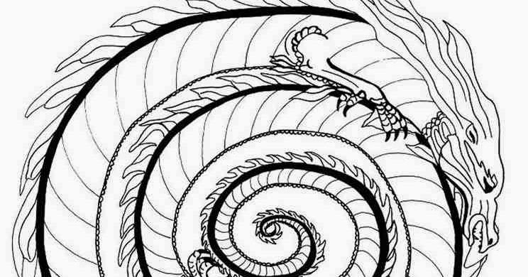 744x390 Animal Fire Dragon Mandala Coloring Pages