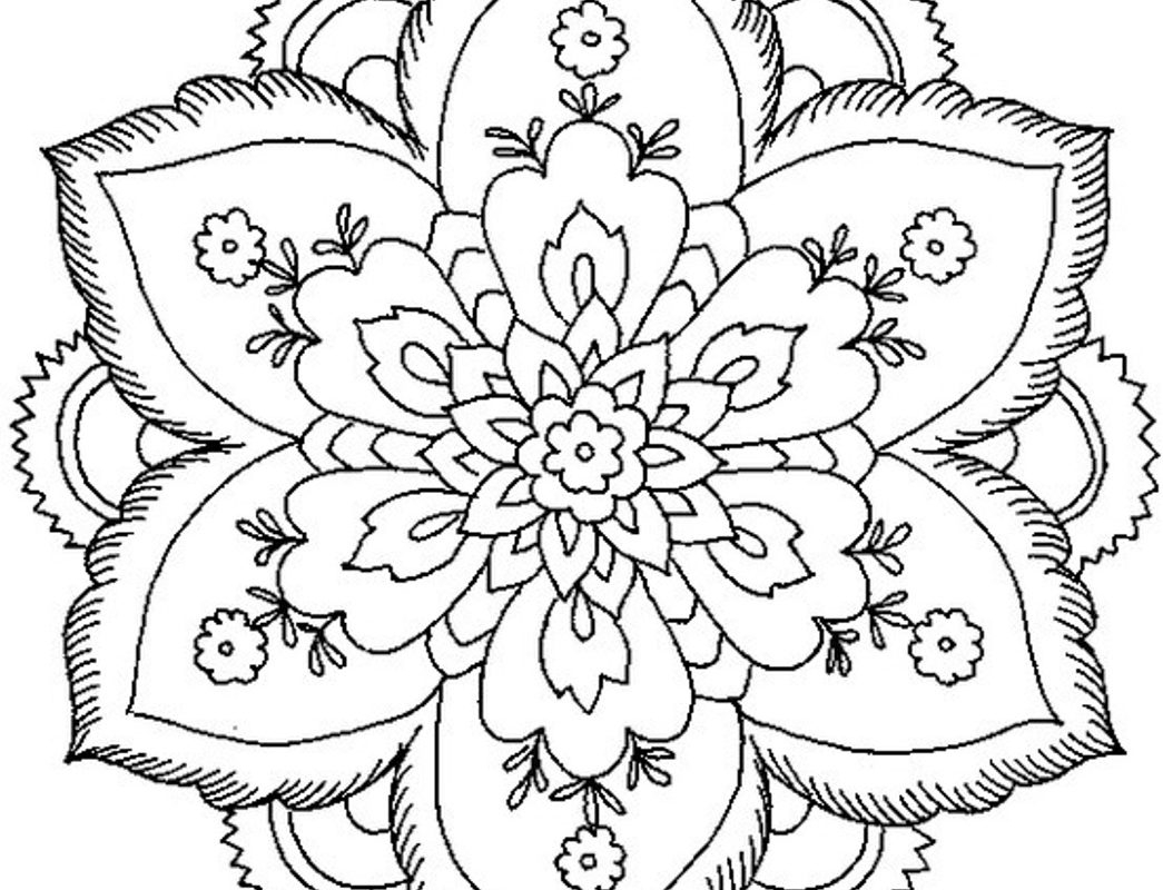 1045x800 Printable Elephant Mandala Coloring Pages Coloring Page Free