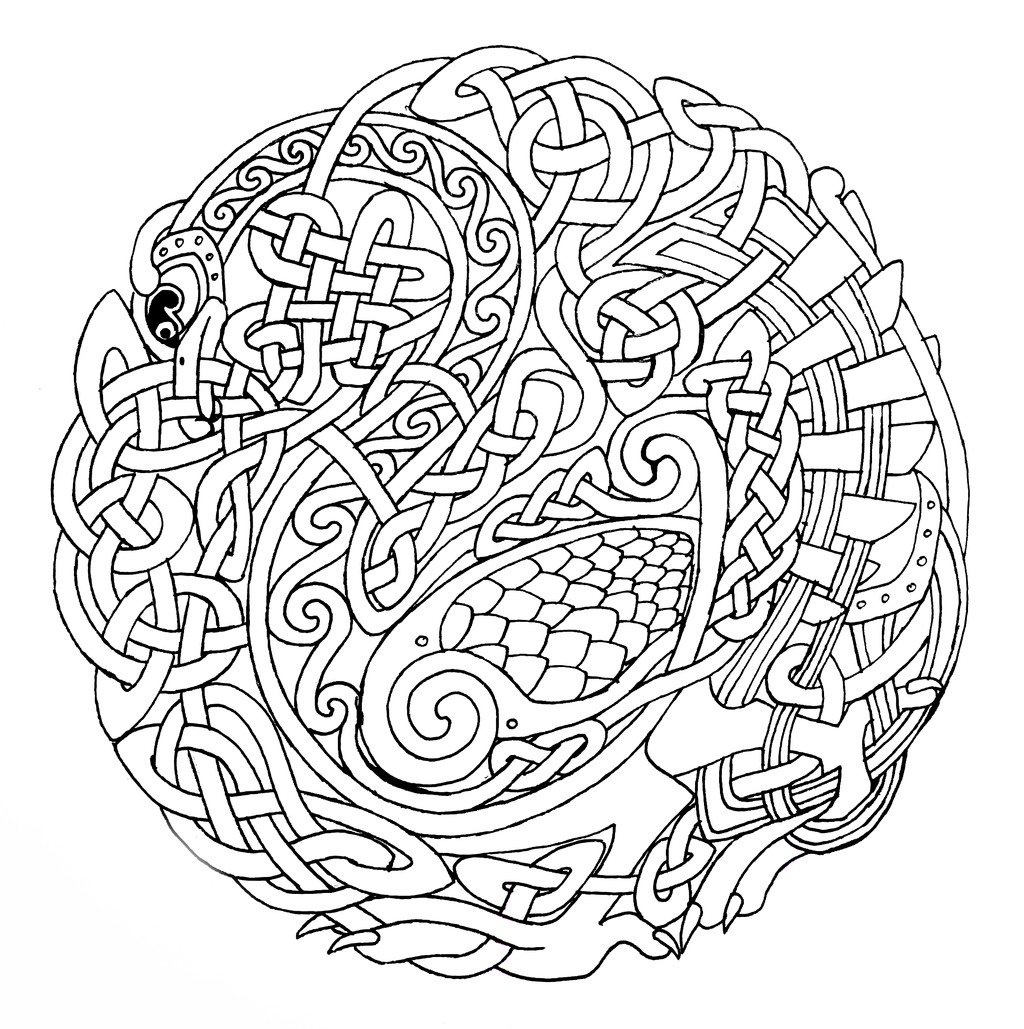 1024x1029 Celtic Mandala Coloring Pages