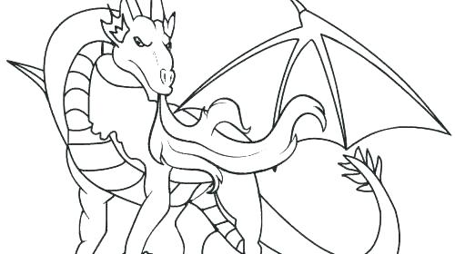 500x280 Dragon Coloring Pages Colouring Free Printable Animals Free