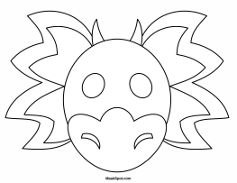 263x203 Dragon Mask To Color Fantasy Dragon Mask, Masking