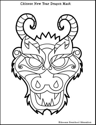 386x500 Dragon Masks To Color Dragon Mask Colouring Pages Neat