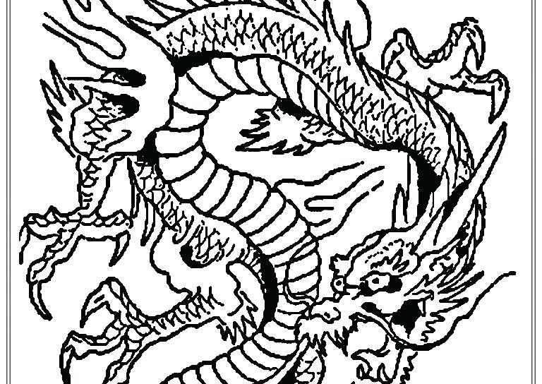 768x544 Idea Chinese New Year Dragon Coloring Pages For New Year Dragon