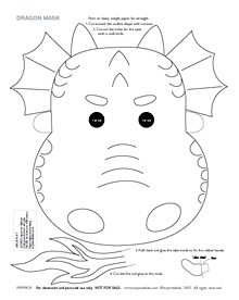 220x276 Printable Dragon Masks