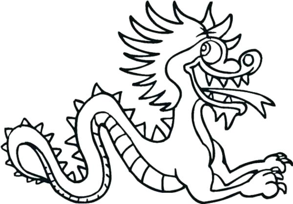 600x417 Chinese Dragon Coloring New Year Dragon Coloring Page Dragons