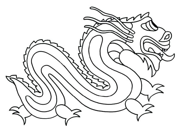 600x430 Chinese Dragon Coloring Pages New Year Dragon Coloring Pages