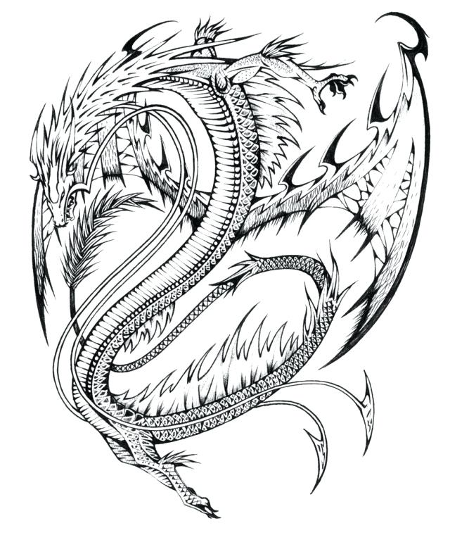 Dragon Pictures Coloring Pages