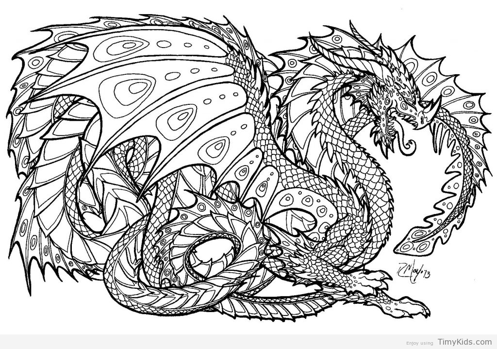 1024x719 Dragons Coloring Pages Enchanting Dragons Coloring Pages