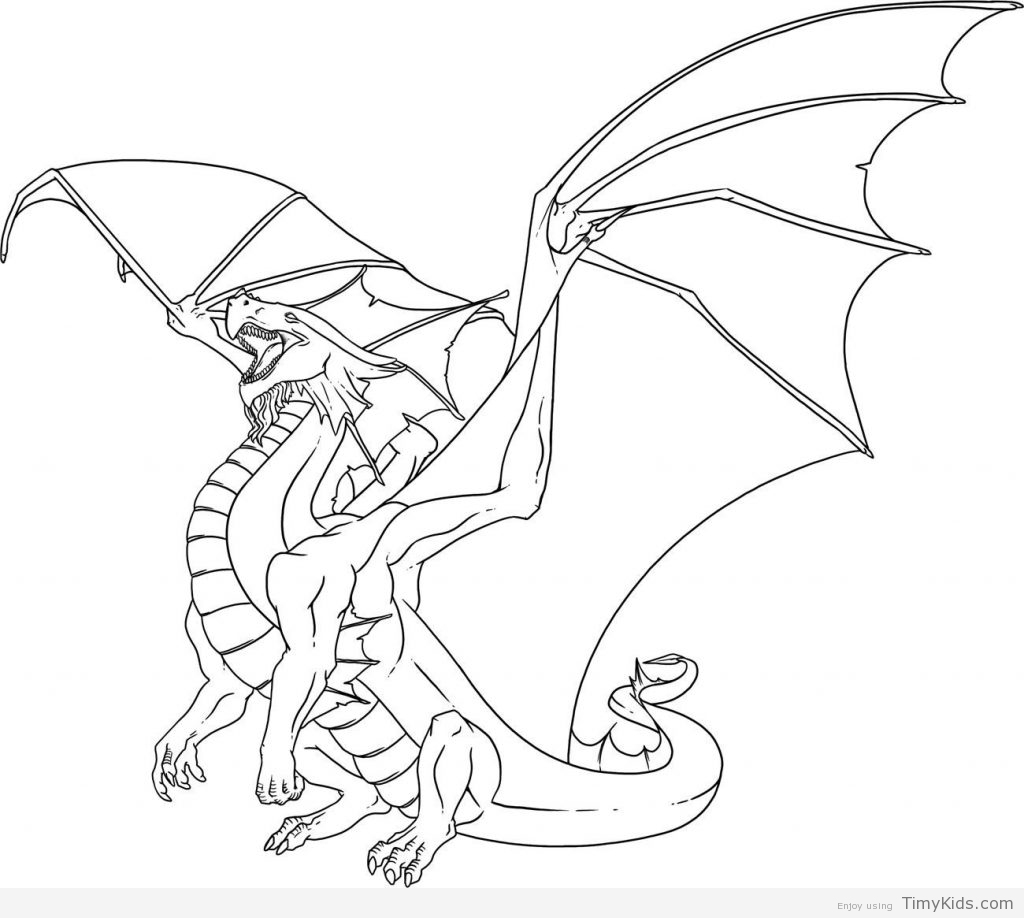 1024x918 Dragon Coloring Pages For Kids Timykids