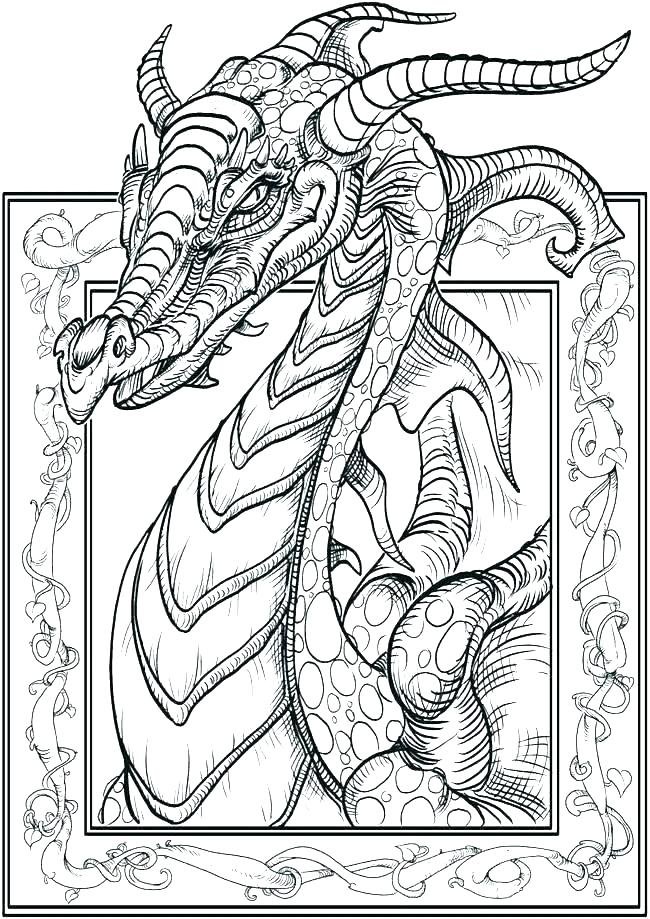 650x919 Dragon Coloring Pages Realistic Vanda