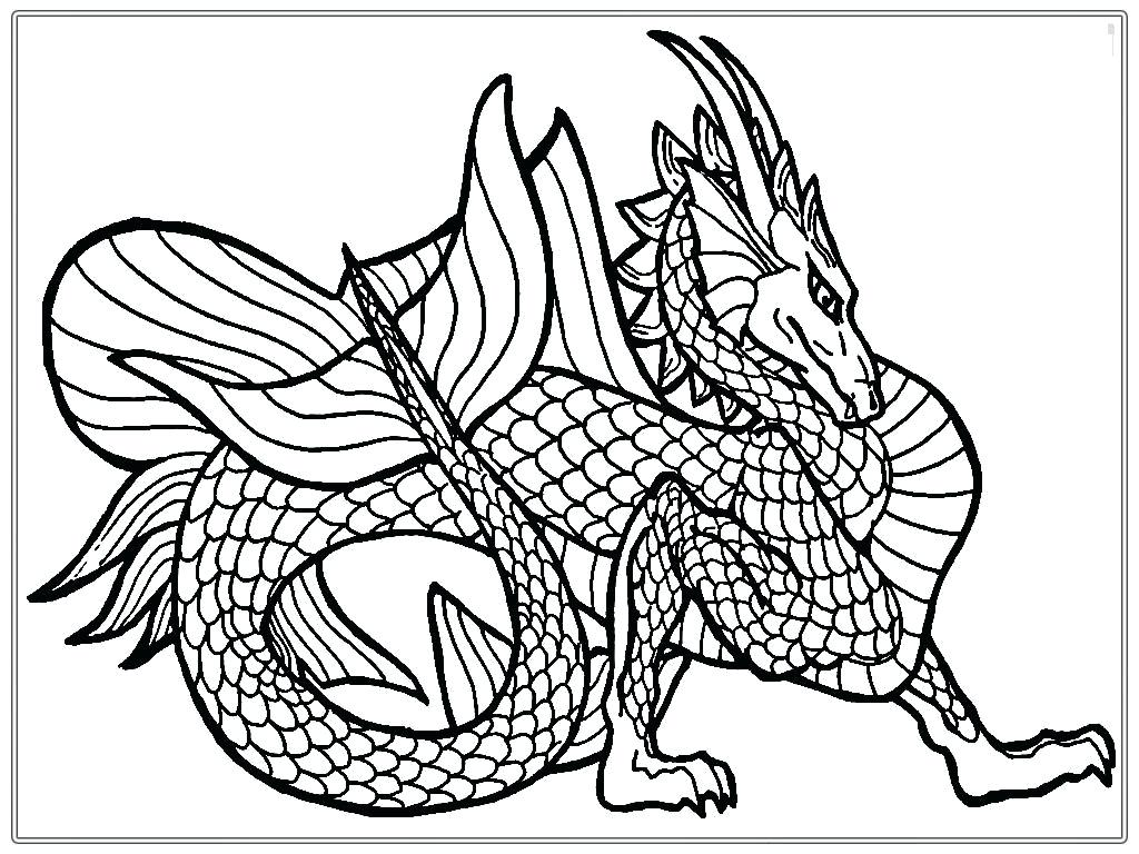 1024x768 Coloring Pages For Adults Animals Dragon Tattoo Designs Stock