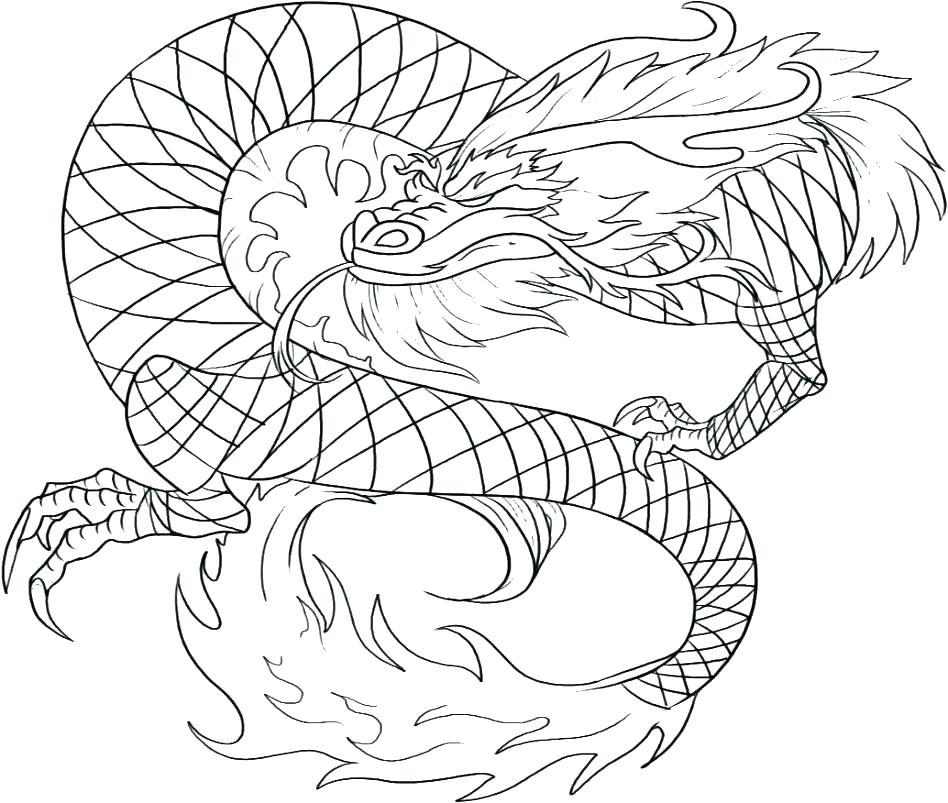 948x803 Cute Black Outline Dragon Tattoo Design Dragon Ball Z Outline