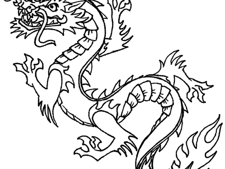 440x330 Japanese Dragon Coloring Pages, Japanese Dragon Tattoo Coloring