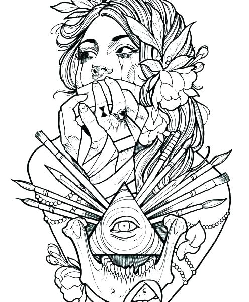 495x600 Tatoo Coloring Pages Dragon Tattoo Design Coloring Pages Cool