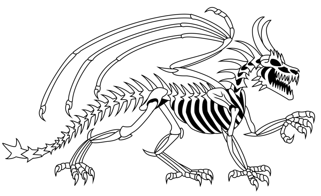1024x627 Dragon Tattoo Coloring Sheets