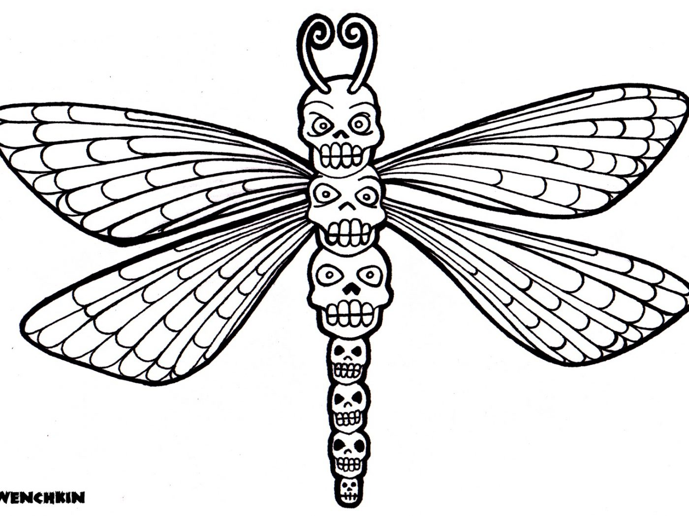 Dragonfly Coloring Pages Printable