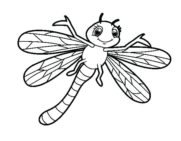 coloring page dragonflies with cattails | 470x600