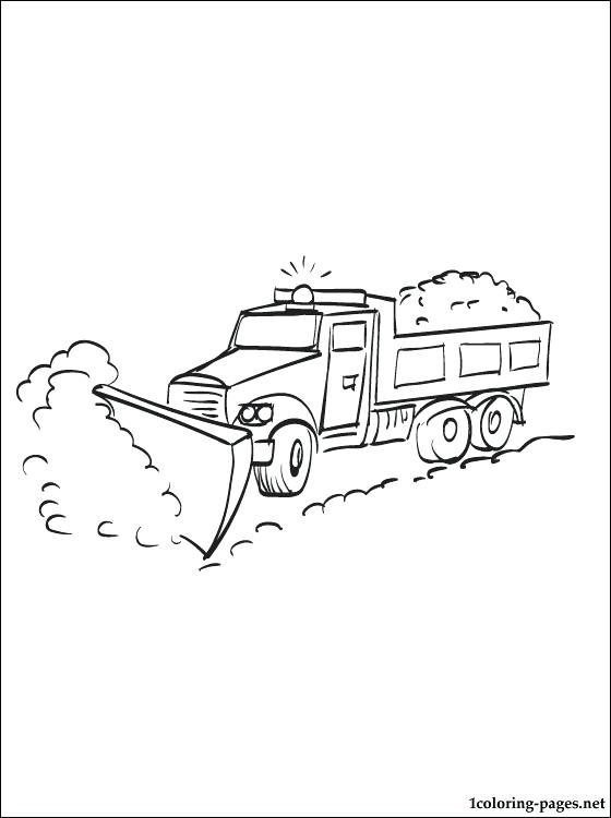 560x750 Snow Plow Coloring Pages