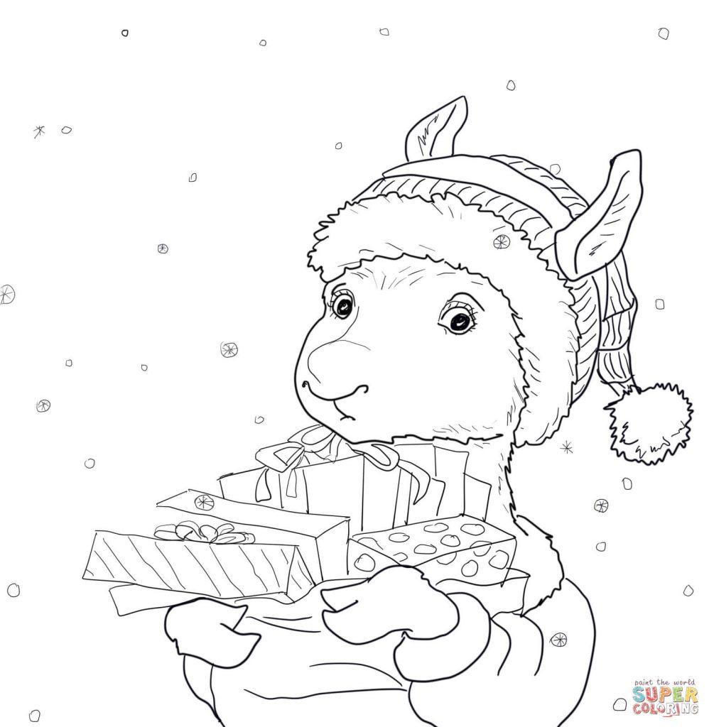 998x1024 Llama Llama Holiday Drama Coloring Pages