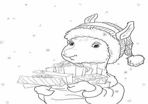 476x333 Llama Llama Holiday Drama Coloring Pages Collection Llama Coloring