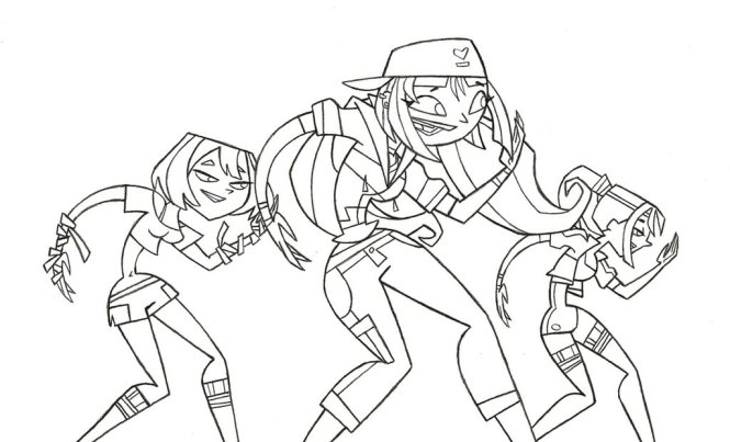 665x403 Appealing Total Drama Island Printable Coloring Pages
