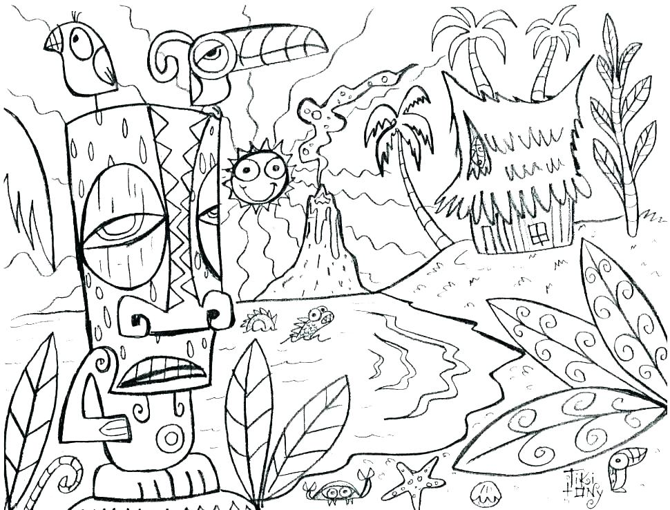 970x738 Total Drama Island Coloring Pages Action Coloring Page