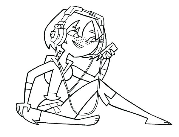 600x458 Total Drama Island Coloring Pages Total Drama Coloring Pages Total