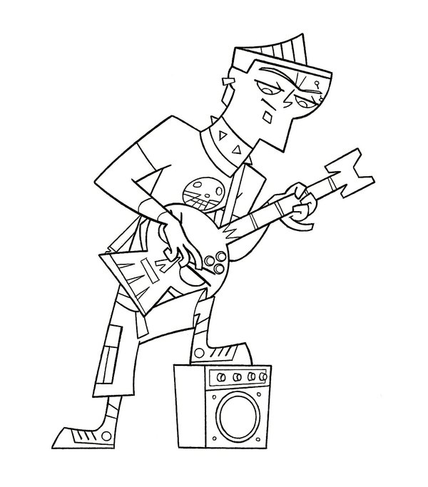 600x683 Total Drama Island Printable Coloring Pages