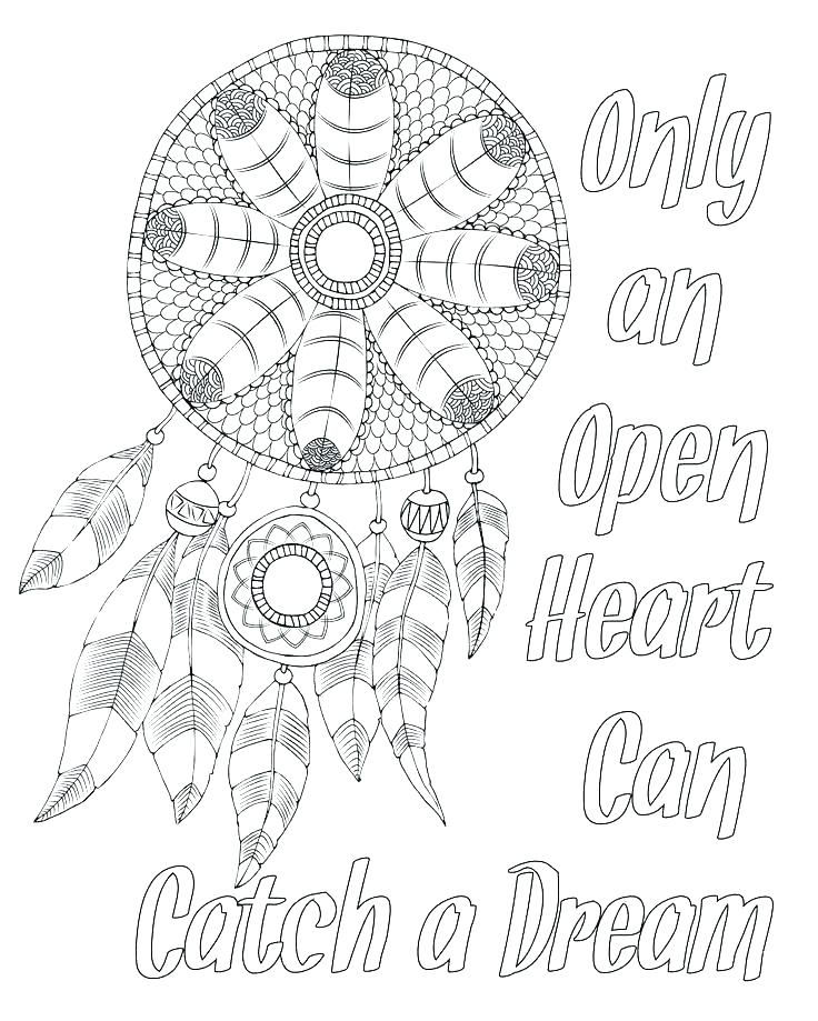 It is a picture of Légend Printable Adult Coloring Pages Dream Catchers
