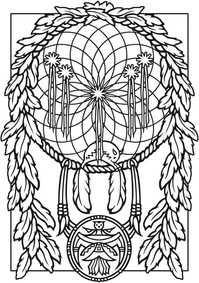 650x925 Dream Catcher Coloring Pages Figuras Para Pintar