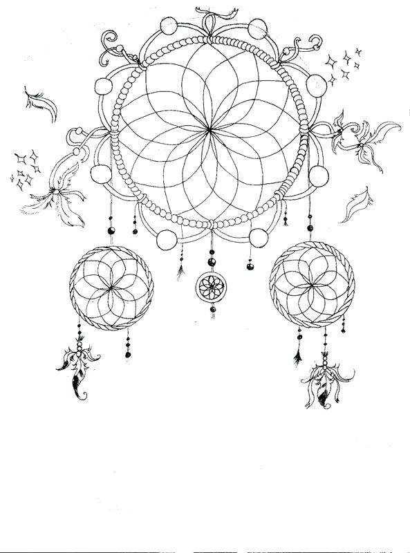 593x800 Dream Catcher Coloring Pages Animal Coloring Pages Dream Catchers