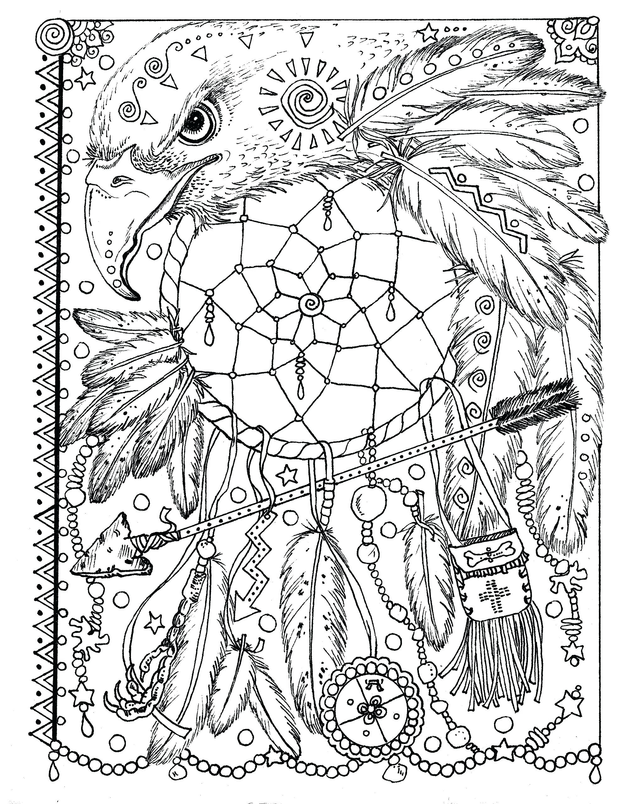 photograph regarding Printable Adult Coloring Pages Dream Catchers named Aspiration Catcher Coloring Web pages For Grown ups at