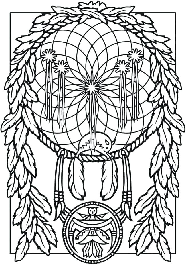 650x925 Dream Catcher Coloring Book Or Dream Catchers Coloring Pages