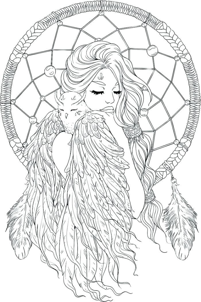 700x1050 Dream Catcher Coloring Pages And Dream Catcher Coloring Pages