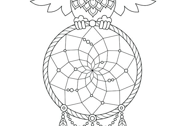 595x409 Dreamcatcher Coloring Pages Coloring Lesson Kids Coloring Page