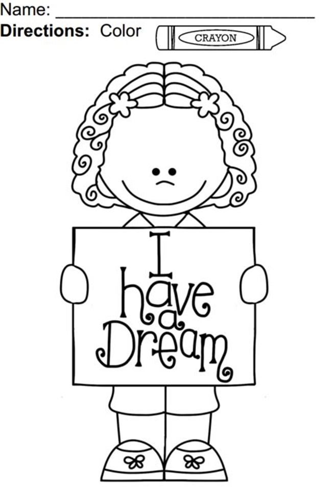 650x953 Free Mlk Coloring Pages I Have A Dream Coloring Pages Alabiasa