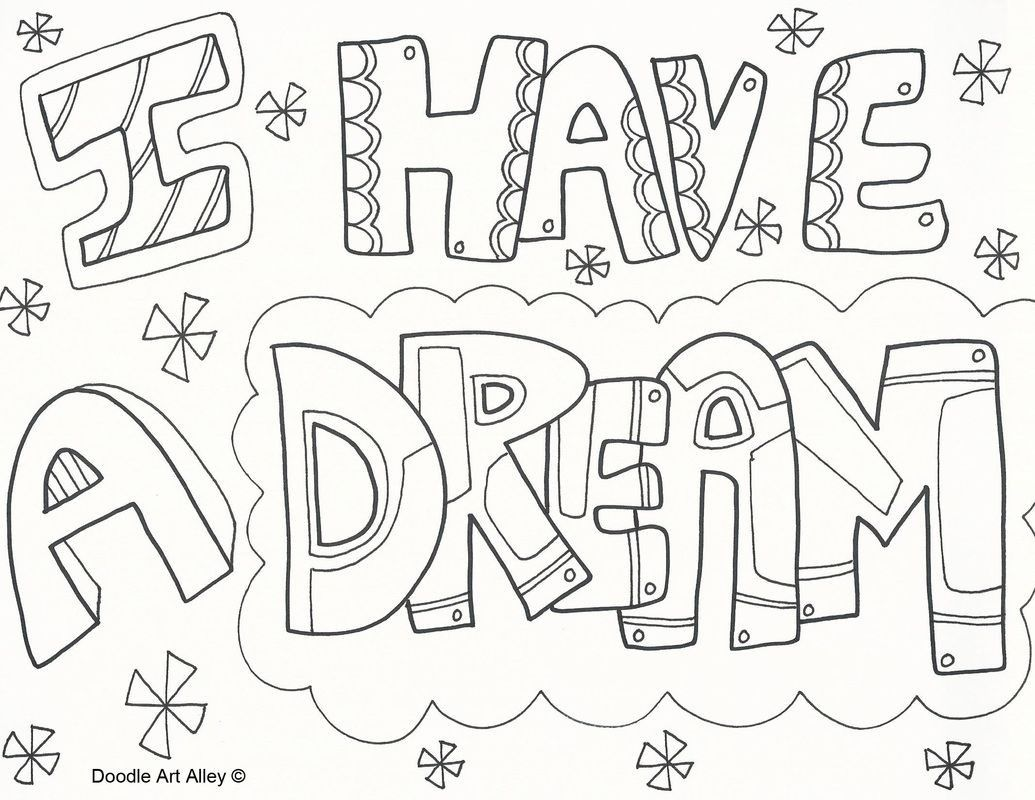 1035x800 I Have A Dream Coloring Pages
