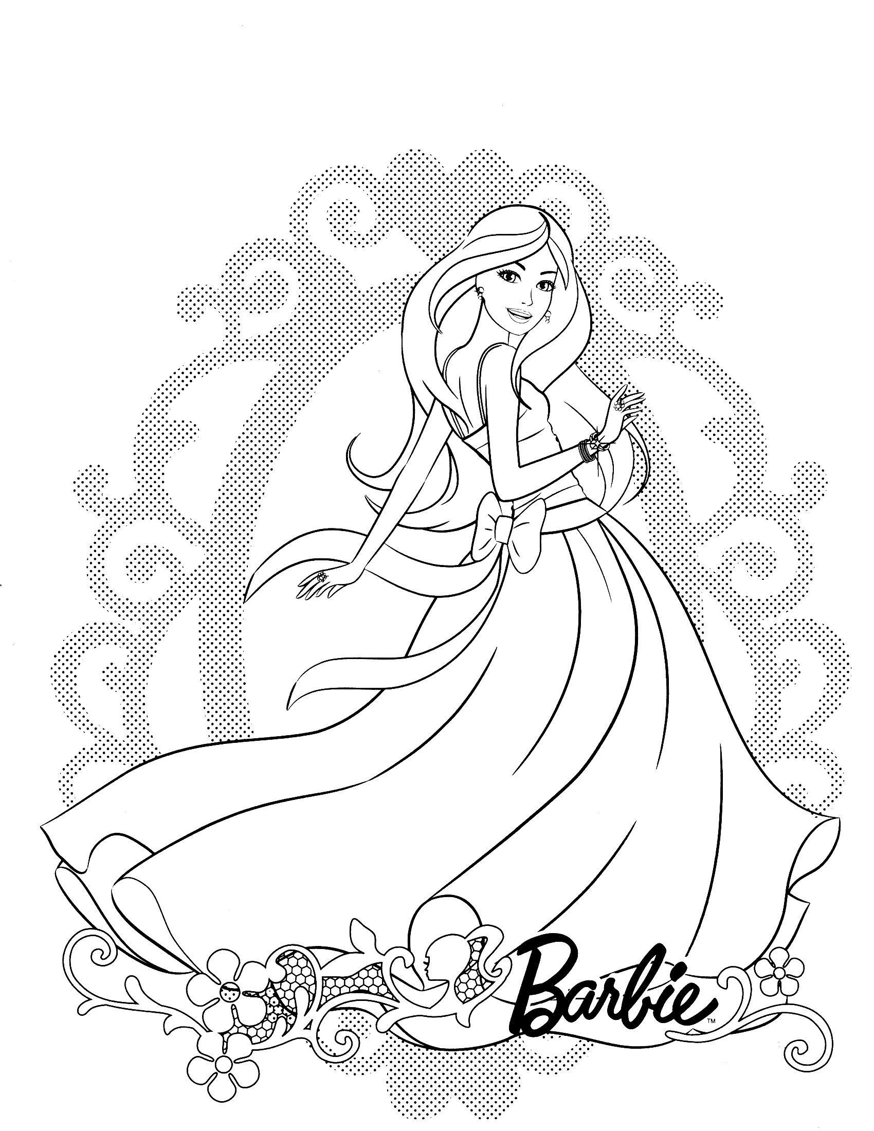1700x2200 Strong Barbie In The Dream House Coloring Page