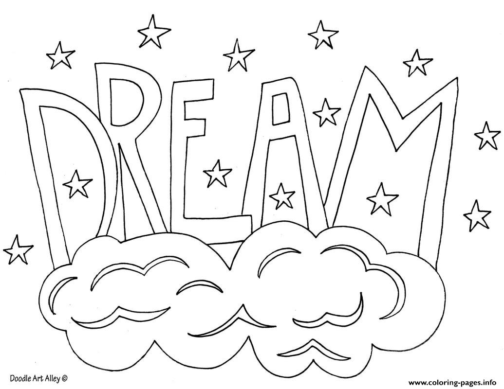 1035x800 Word Dream Coloring Pages Printable