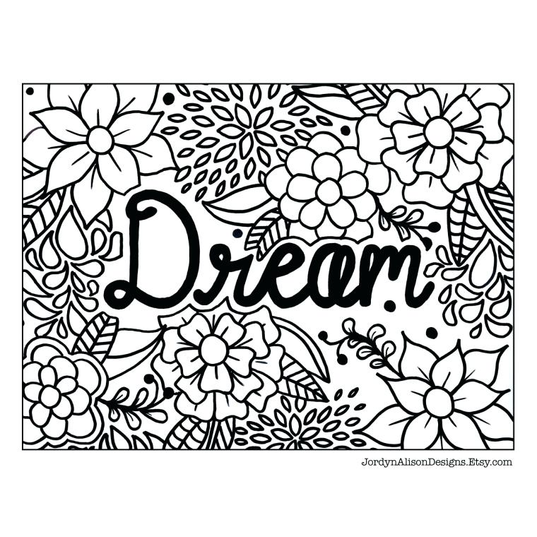 760x760 Coloring Page Everything Etsy Coloring Pages Dream Coloring Page
